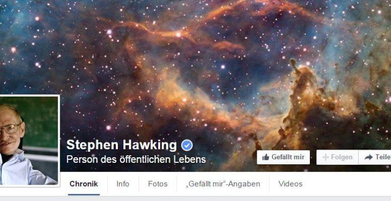 Stephen Hawking auf Facebook