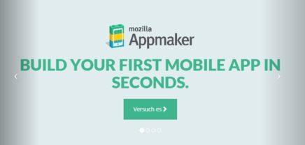Mozilla plant App zum einfachen Erstellen von WebApps