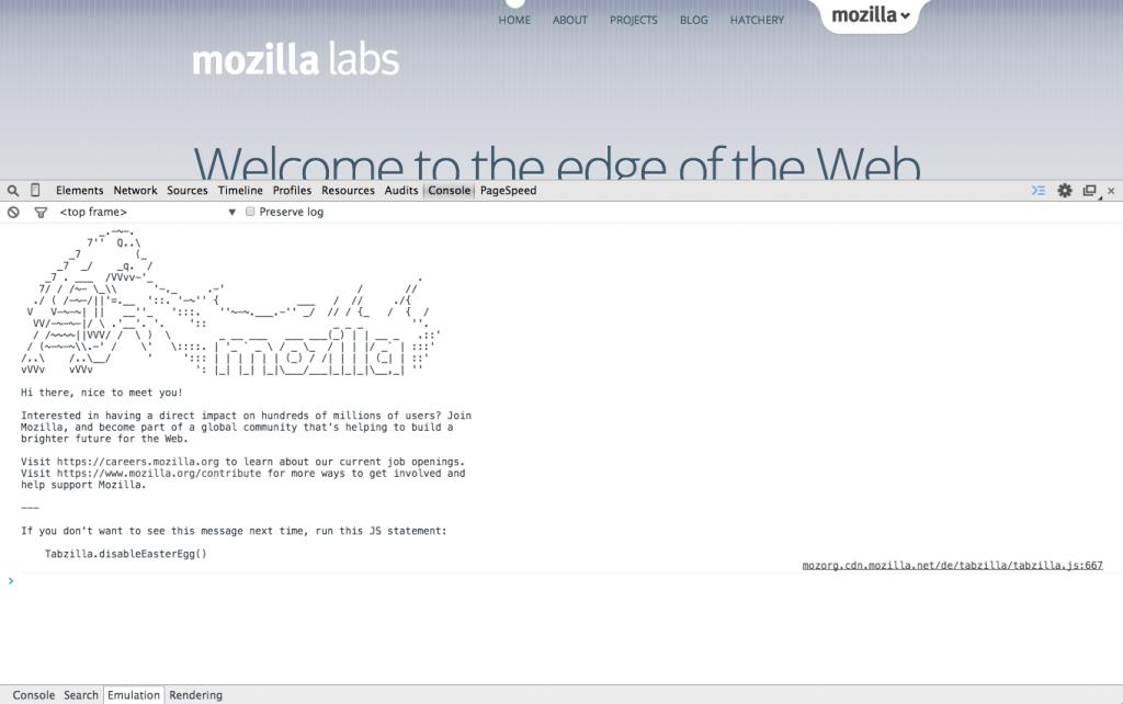 Mozilla Labs Job Anounce