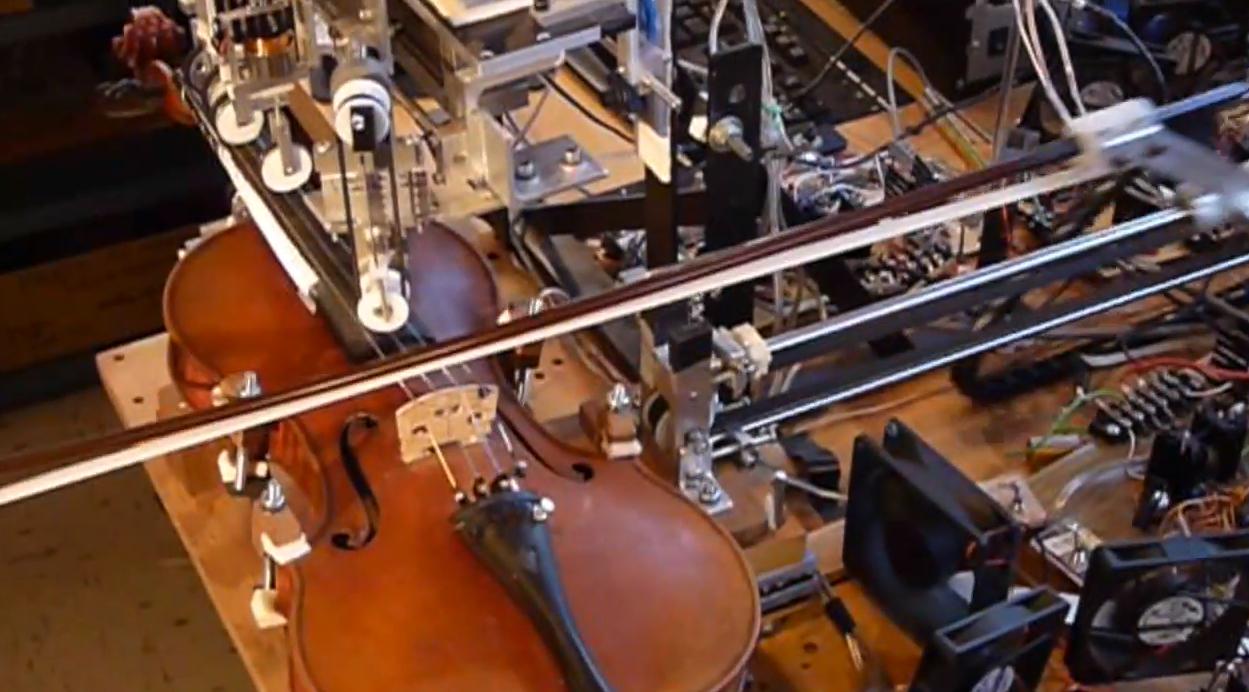 Zukunftsmusik: Ro-Bow, ein Geige spielender Roboter