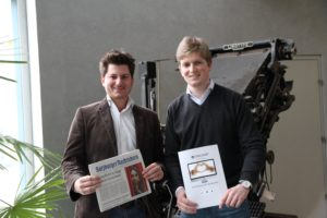 M. Dasch als Vertreter der Salzburger Nachrichten und J. Meßner von Coolshop