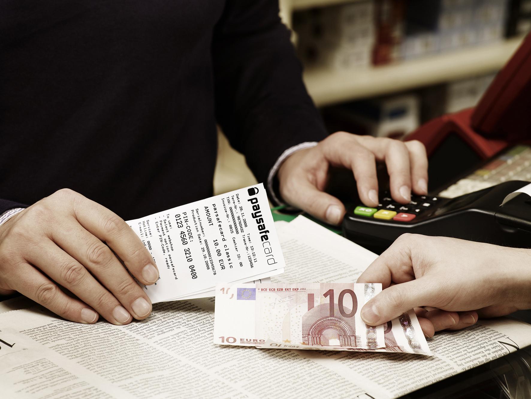 paysafecard einlösen gegen geld