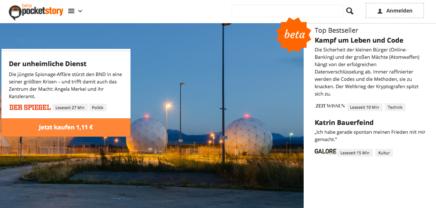 Launch von Pocketstory: Der erste Online-Kiosk für einzelne Zeitungsartikel