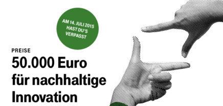 50.000 Euro vom TUN-Fonds für nachhaltige Lösungen im Umweltbereich #13/07/15