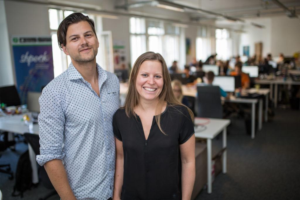 (c) shpock: Die beiden Gründer der Flohmarkt-App: Armin Strbac und Katharina Klausberger