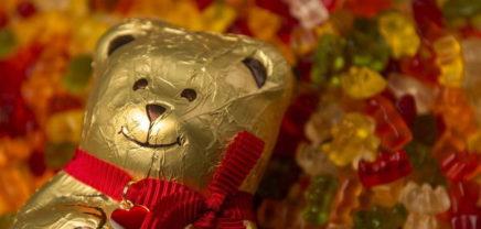 Das Ergebnis: Bär gegen Bär, Gummi gegen Schokolade, Haribo gegen Lindt
