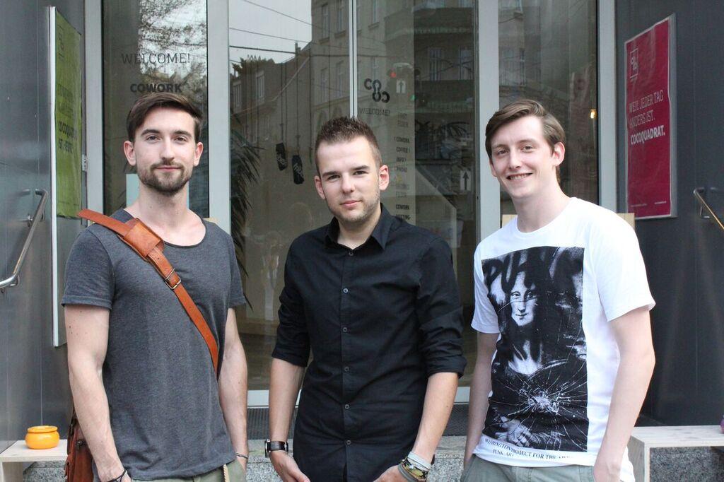 Dominik Beron, Christoph Hauer, Jacob Wagner (v.li) - die Gründer von refugeeswork.at