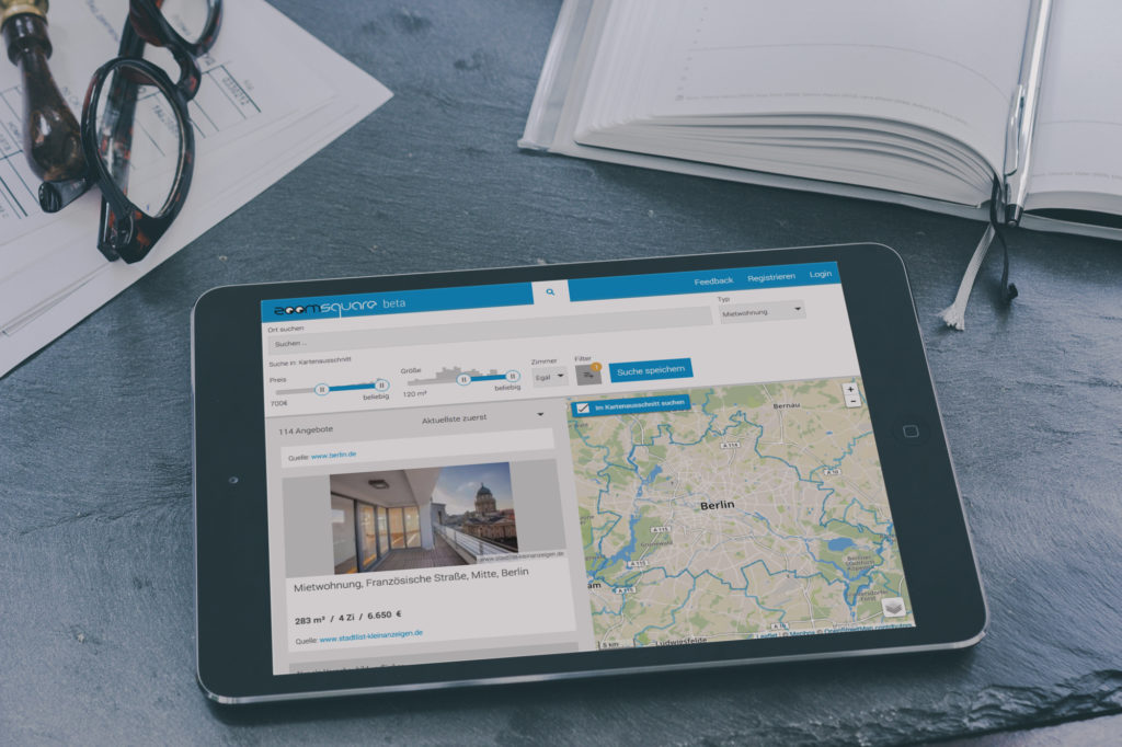 (c) Zoomsquare. Die Immobiliensuche am Tablet