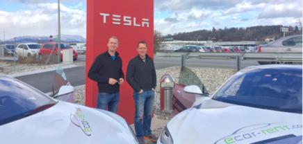 """Grazer Startup """"ecar-rent"""" vermietet Tesla ab 99 €"""