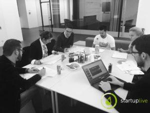 Die Jury bei der Entscheidungsfindung. (c) Facebook Startup Live Klagenfurt