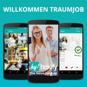 Job- und Mitarbeiterbörse. (c) hokify