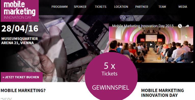 Mobile Marketing Innovation Day: Tickets gewinnen