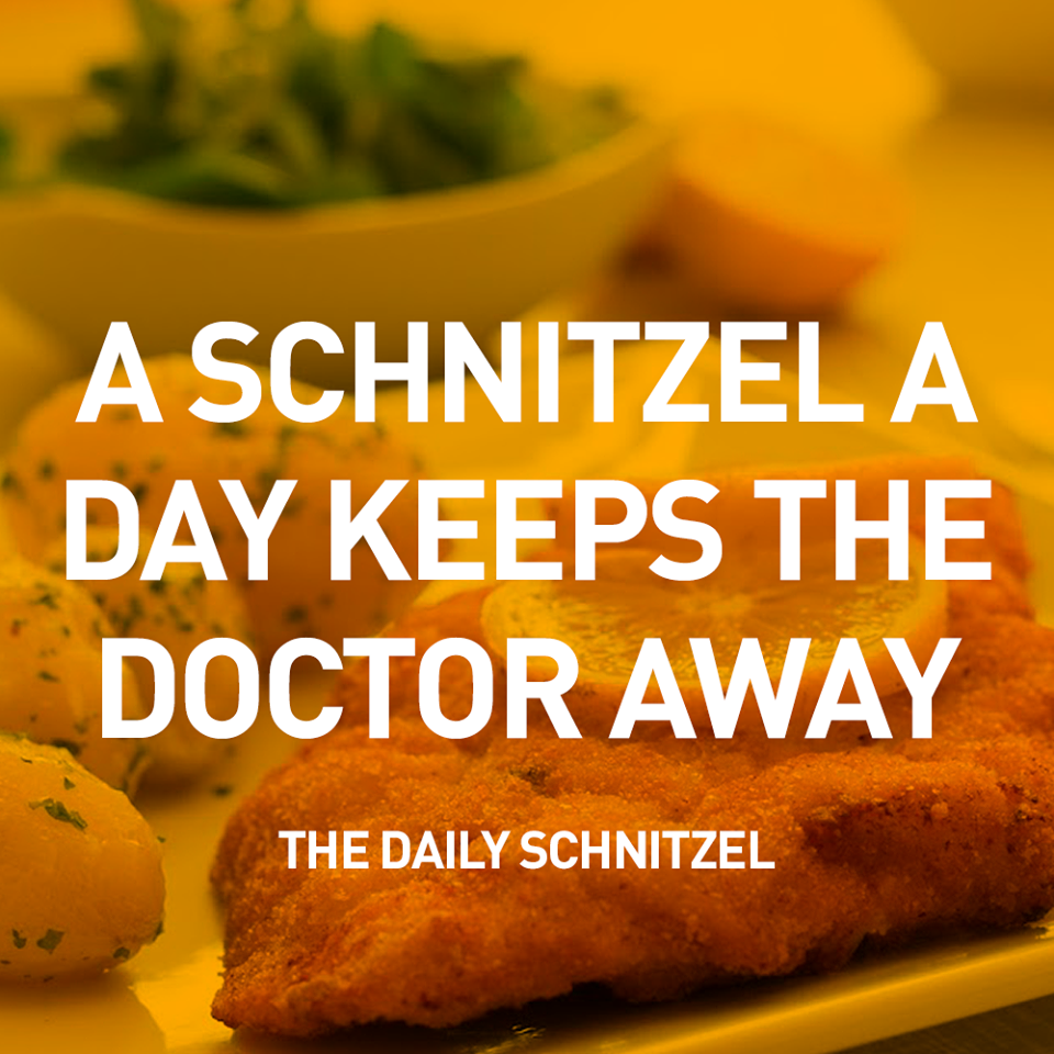 """""""The Daily Schnitzel"""" (c) dvel - fun, fast and easy."""