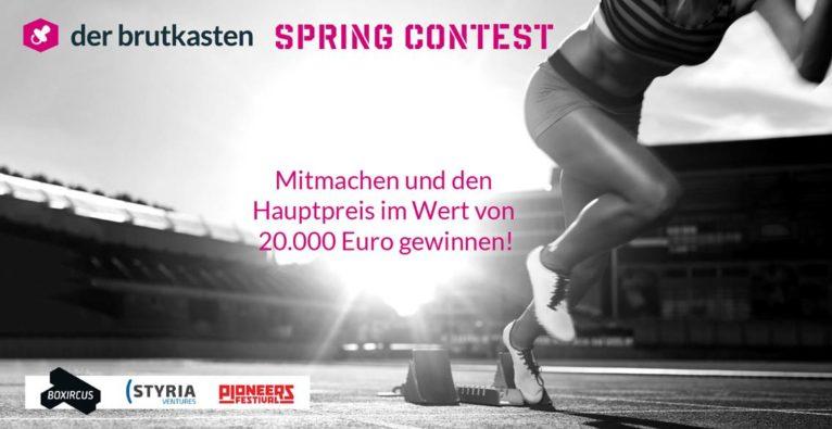 """""""Brutkasten"""" Spring Contest: Erzähl uns von Deinem Startup und gewinne Preise im Wert von 20.000 Euro"""