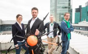 Agro Innovation Lab-Team : Claudia Mittermayr, Reinhard Bauer, Bernhard Resch, Samuel Fetz (v.l.) © RWA