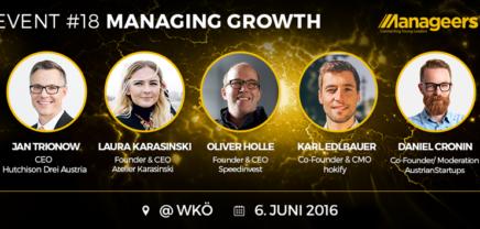 """Manageers: """"Managing Growth heißt sich nichts zu scheißen"""""""