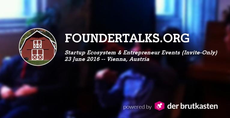 FounderTalks: DerBrutkasten holt Silicon Valley-Gründer nach Wien