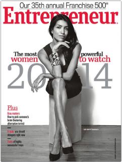 "(c) Entrepreneur: Leila Janah als ""most powerful woman to watch"""