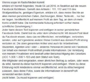 Screenshot Facebook Kettenbrif