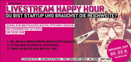 22.9. Livestream Happy Hour – Hol Dir Reichweite für Dein Startup!