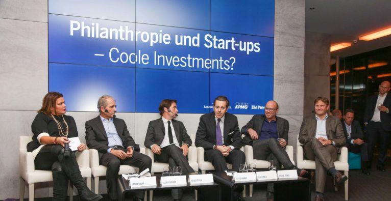 Podiumsdiskussion: Kunst oder Startup – wie wohltätig können Investments sein?