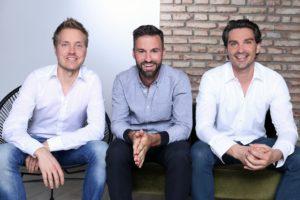 Die Gründer Florian Kiener, Stefan Walter und Felix Häußinger. (c) happybrush