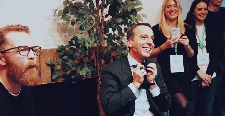 Kern bei AustrianStartups: mitreißend, erheiternd und sehr allgemein
