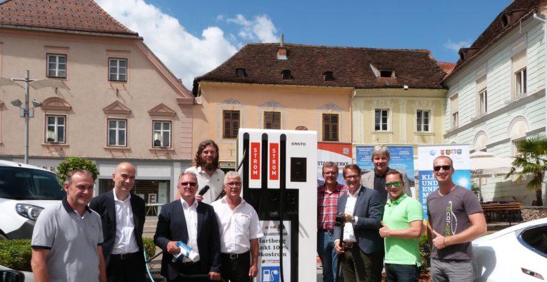 Schnellste öffentliche E-Ladestation Österreichs eröffnet