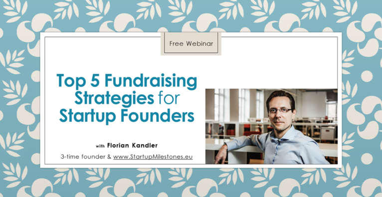 Free Webinar: Top 5 Fundraising Strategies for Startup Founders