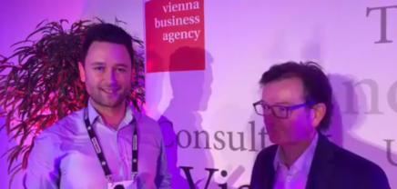Live von der Reception der Wirtschaftsagentur Wien am Pioneers Festival