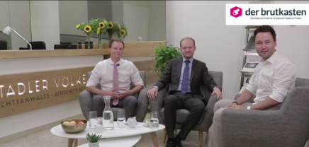 Stadler Völkel Rechtsanwälte, im Live Gespräch über Bitcoin uvm.