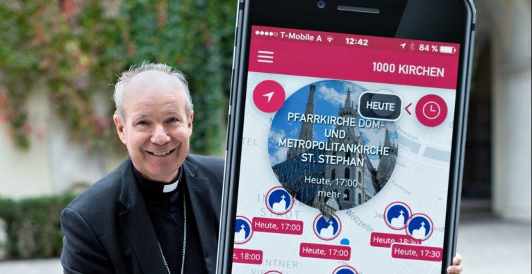 """""""Smartchurch"""": Erzdiözese Wien startet """"1000Kirchen""""-App"""