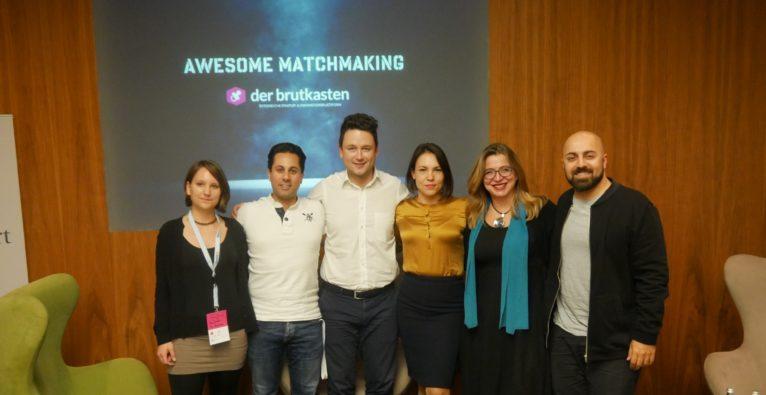 Ergreifende Worte der Whatchado Gründer beim Find Your Co-Founder Event
