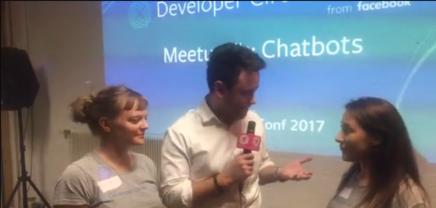 Barbara OndrisekundNatalie Korotaeva beim ersten Facebook Developers Circle Vienna