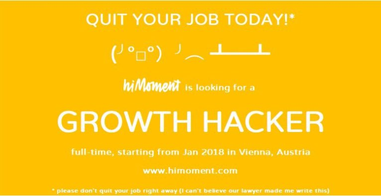 Growth Hacker @ hiMoment