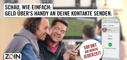 ZOIN: Via Telefonnummer Geld an Freunde senden und empfangen