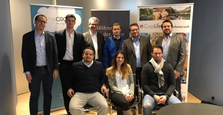 Das CorpLife-Team mit Teilen der PrimeCrowd
