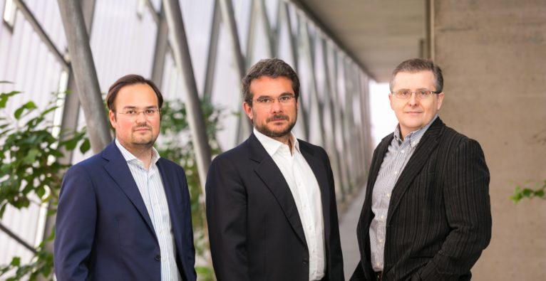 uSound: Die Co-Founder Jörg Schönbacher, Andrea Rusconi Clerici und Ferrucio Bottoni