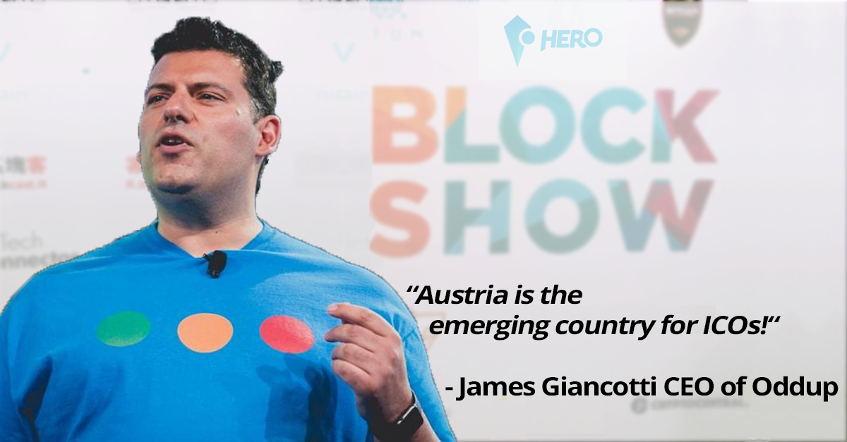 Blockchain-Politik: James Giancotti bei der Blockchain World Conference