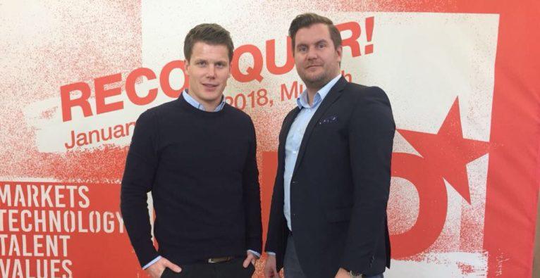 Jannis Roser (Surplus Invest) und Günther Strenn (JobRocker)