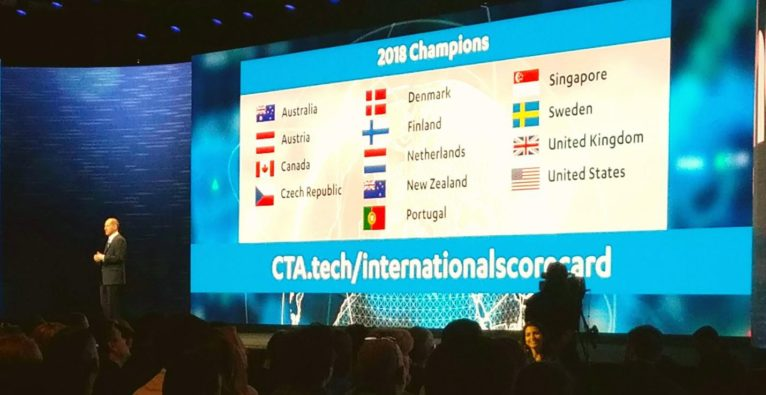 Präsentation der International Innovation Scorecard bei der CES Las Vegas.