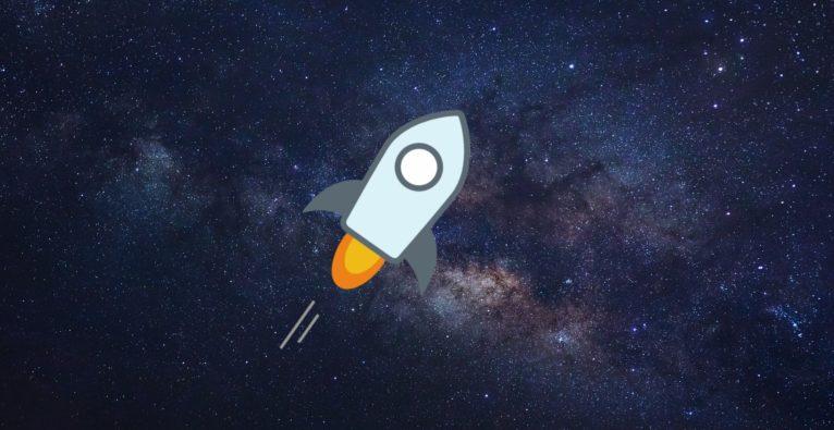 Die kleine Rakete ist das Logo von Stellar