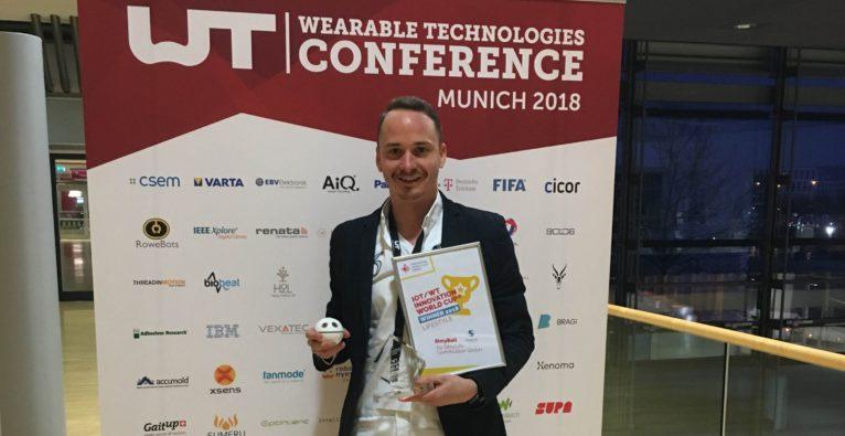 Marcel Aberle mit WT Innovation World Cup Award
