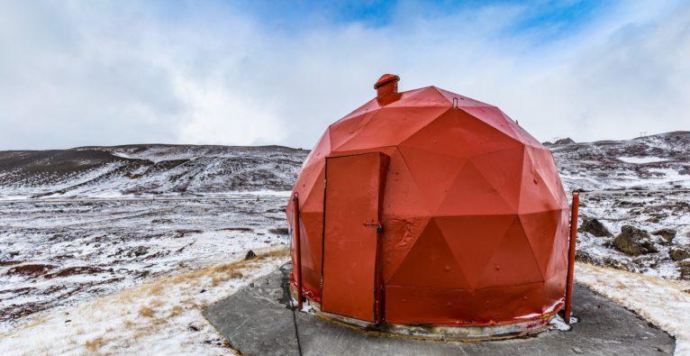 Teil eines Geothermie-Kraftwerks in Island