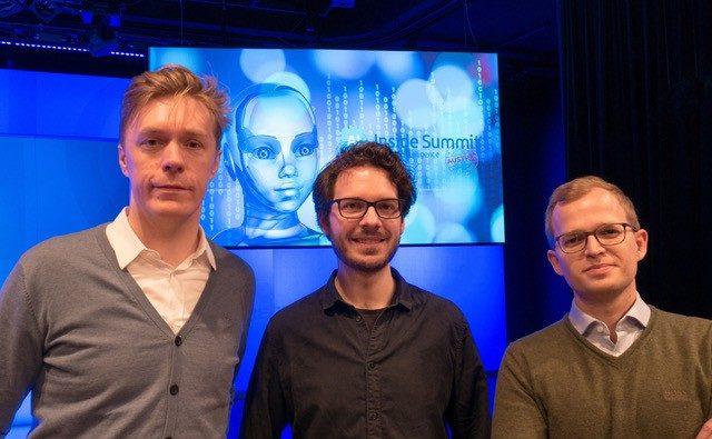 "JOBIQO (v.l.n.r.): Klaus Furtmüller (Gründer), Matthias Hutterer (Head of Innovation) und Martin Lenz (GF), beim ""A.I. Inside Summit"""