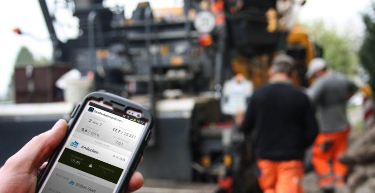 Digital-Lösung von hiQ Solutions im Asphalt-Bau
