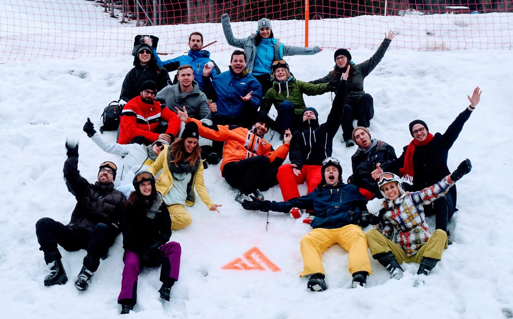 AustrianStartups: Das neue Logo mit Ski-Symbolik