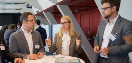 Startup-Frühstück: Schramböck fragte Gründer nach Painpoints