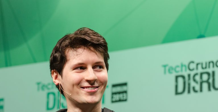 Telegram Gründer Pavel Durow bei der TechCrunch Disrupt Europe Konferenz