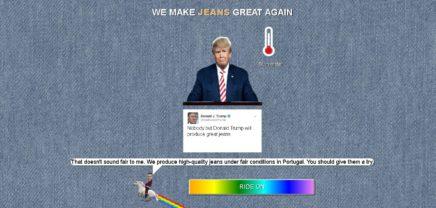 """MakeJeansGreatAgain: Trump als nächstes """"PR Gag-Opfer"""" von Vresh"""